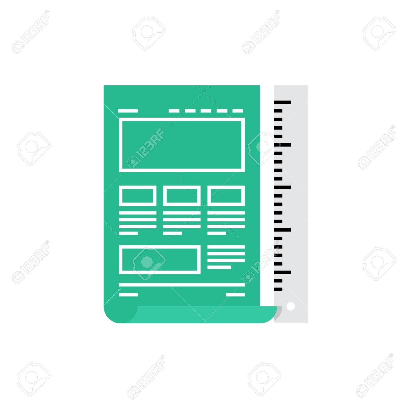 Modern icon of website blueprint web page sketching and web modern icon of website blueprint web page sketching and web development premium quality illustration malvernweather Gallery