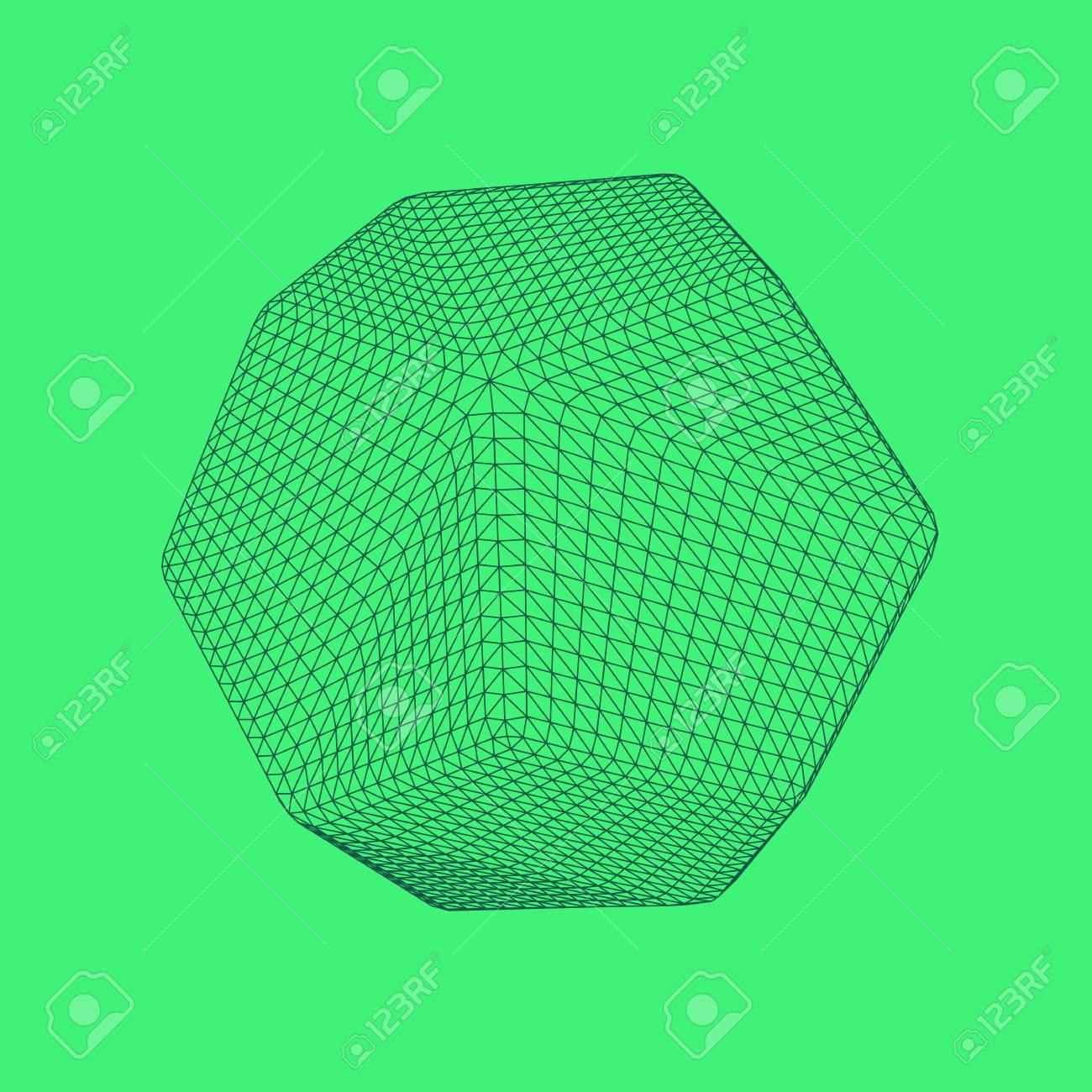 Ilustración Del Vector De Dodecahedron, Figura Sólida Platónica ...