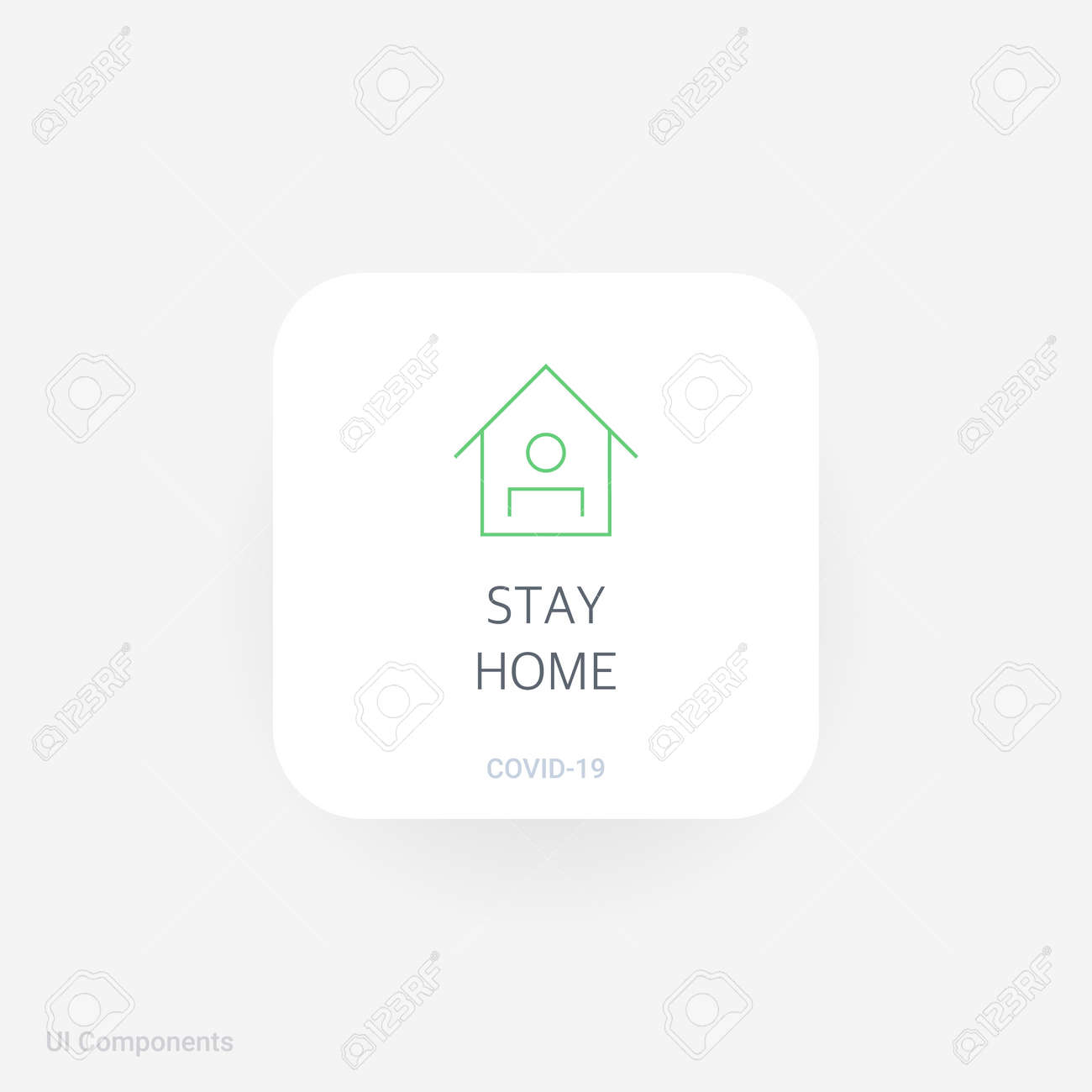Stay Home Refined Covid 19 Medical Function And Information Royalty Free Cliparts Vectors And Stock Illustration Image 159420318