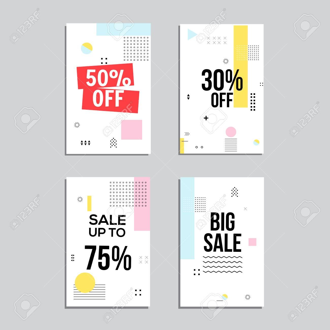 Sale Website Banners Design Set. Social Media Banners, Posters ...