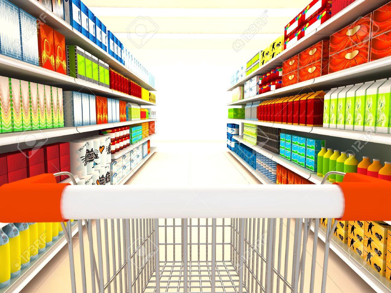 Supermarket. 3d rendered image Stock Photo - 6829143