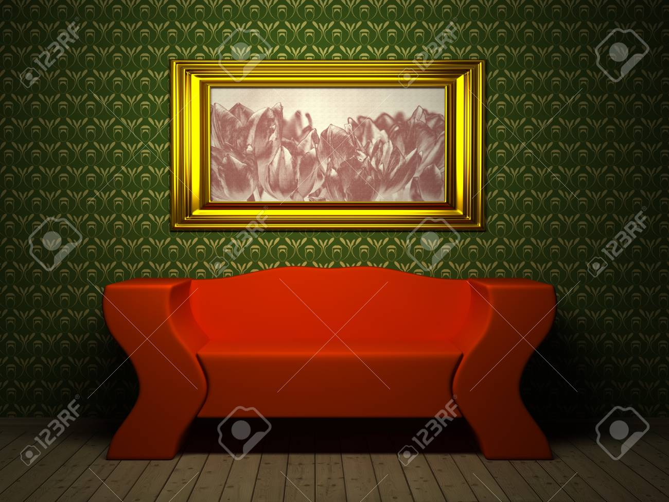 Room with picture. 3d rendered image Stock Photo - 6958856