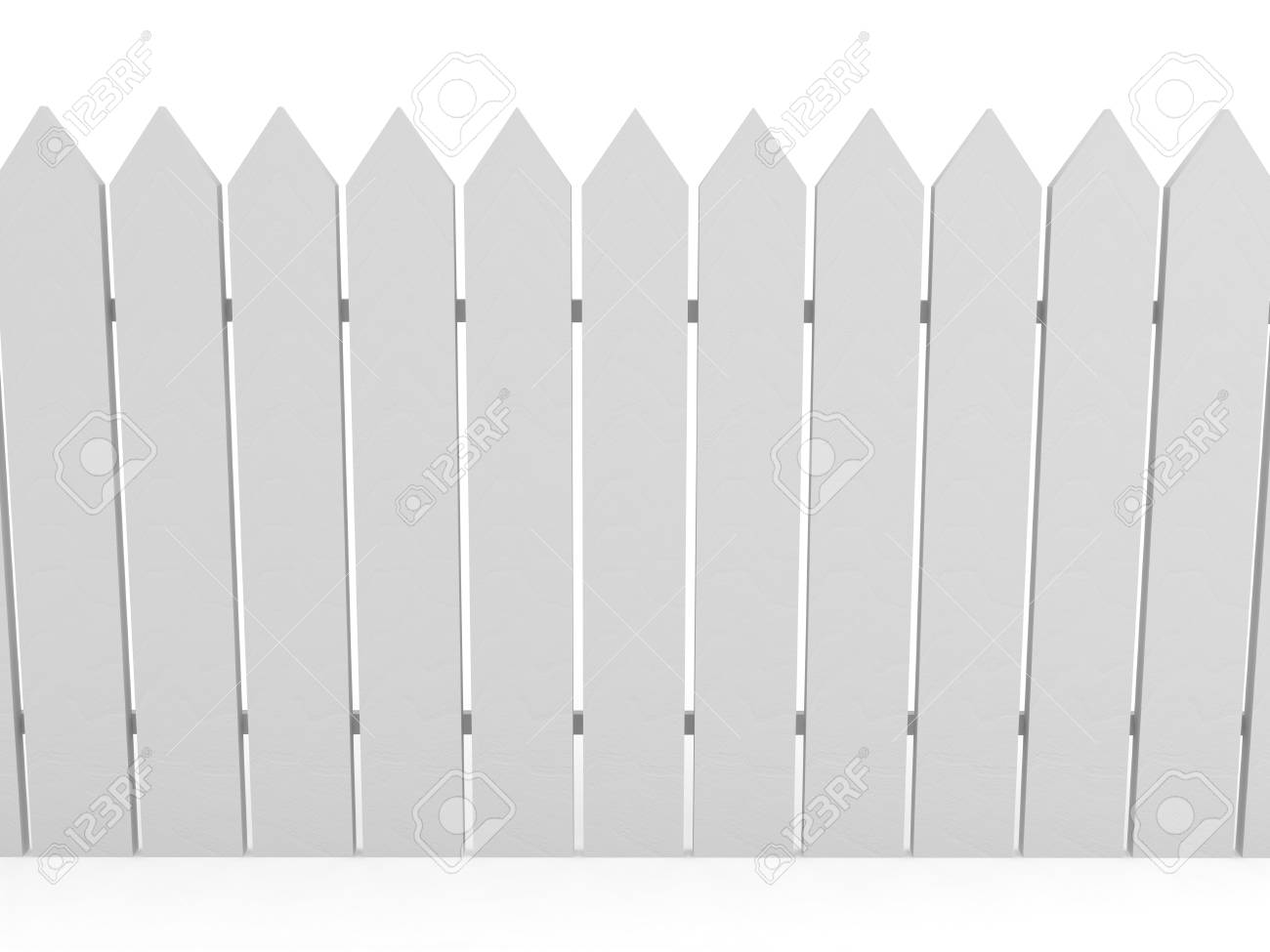 White fence over background. 3d rendered image Stock Photo - 7438963