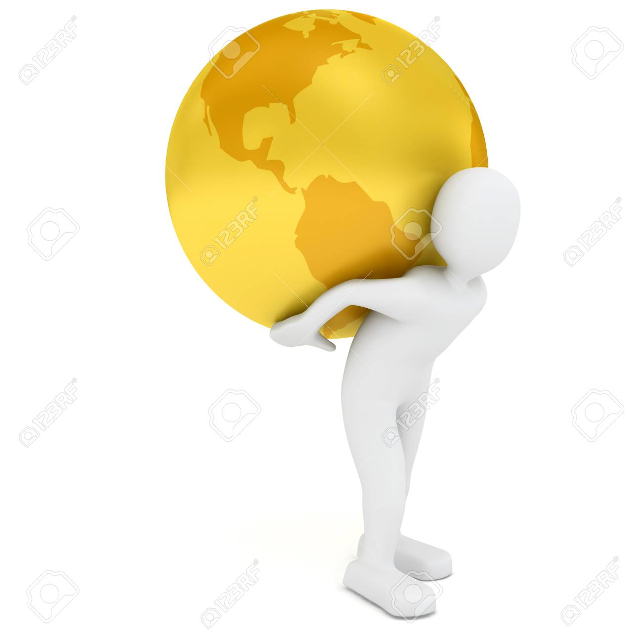 Globe over white background. 3d rendered image Stock Photo - 7623382