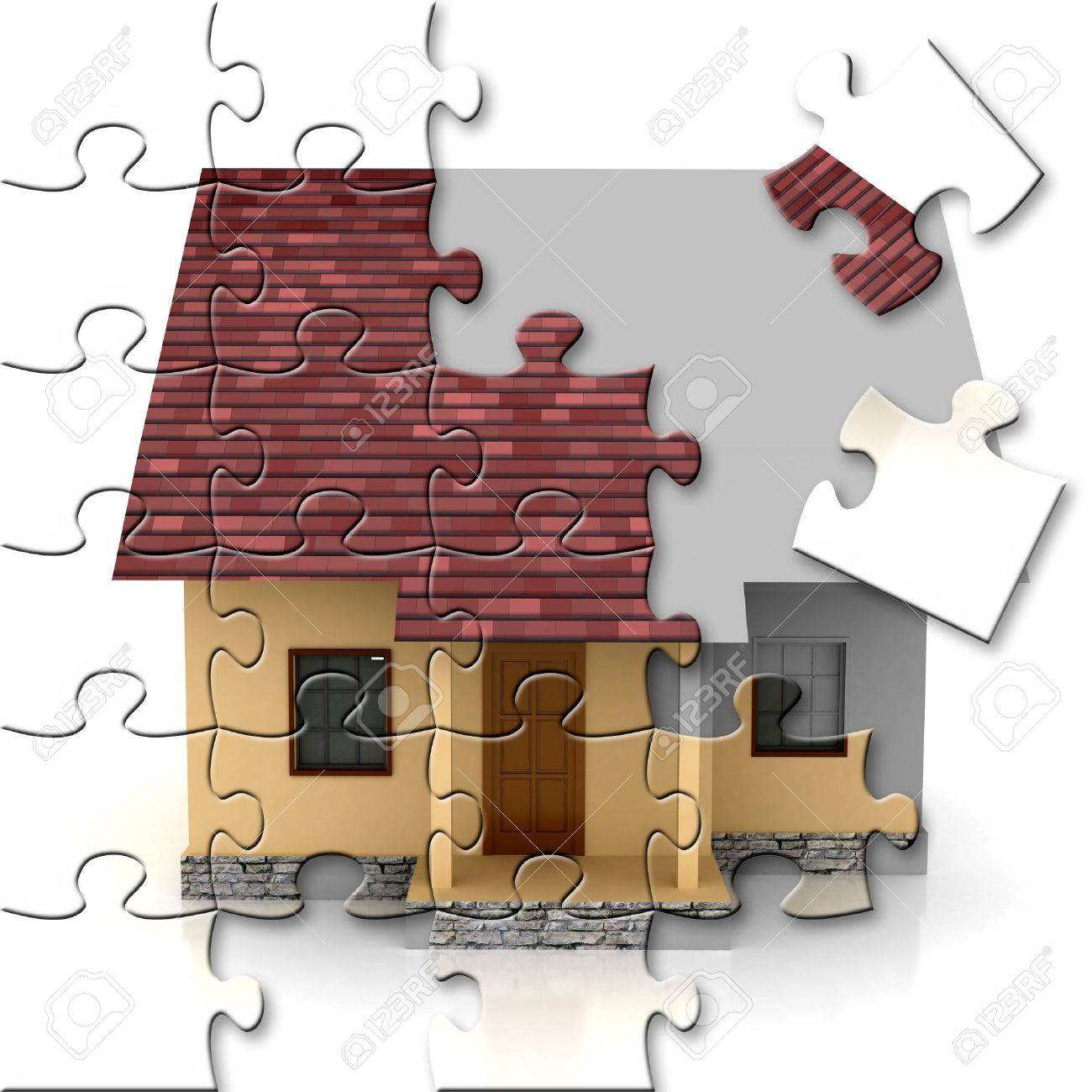 house on sale over white backgound Stock Photo - 8535961