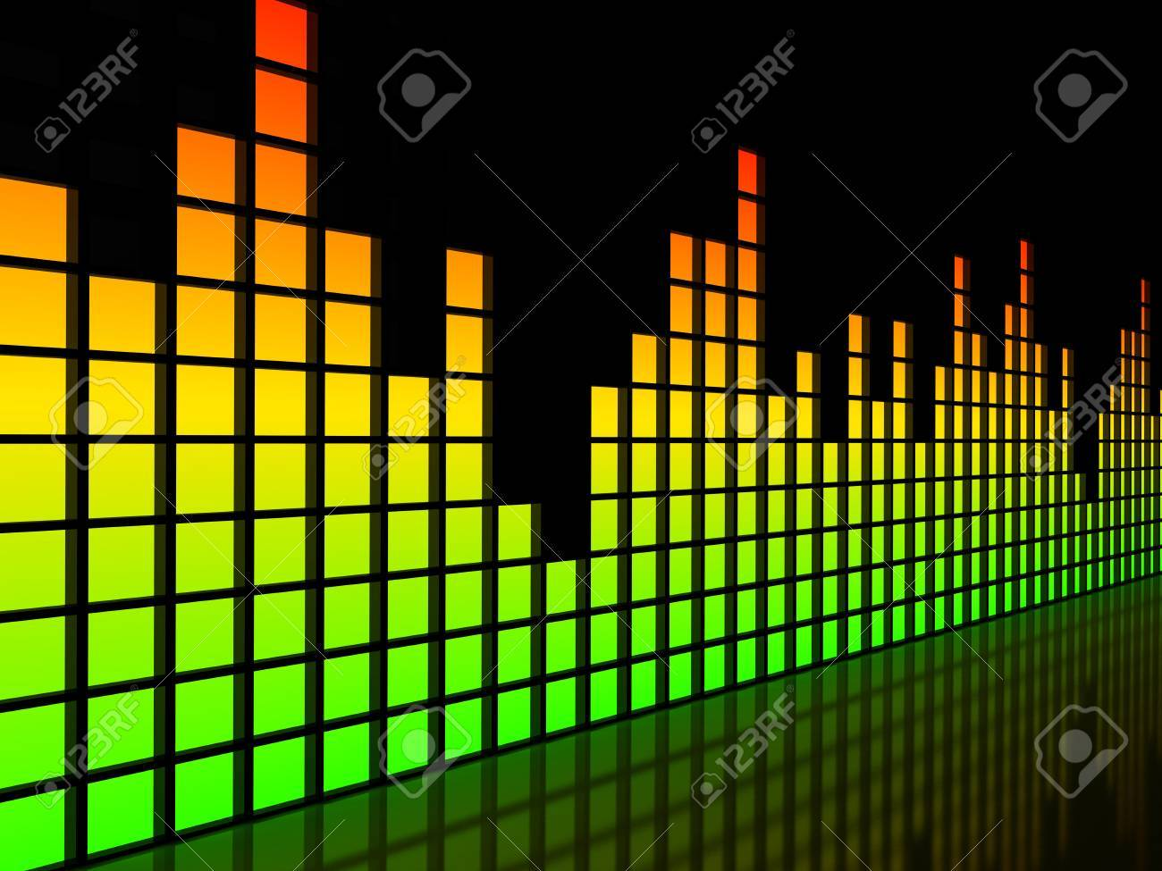 Equalizer over black background. computer generated image Stock Photo - 9201308