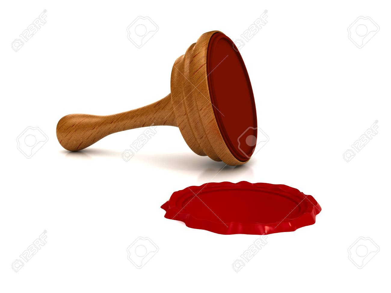 Red wax seal over white background Stock Photo - 9675367
