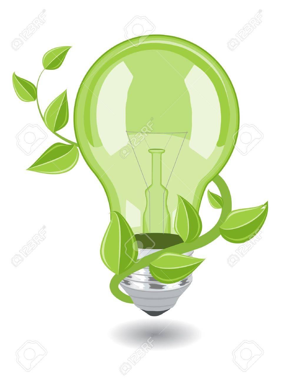 Vector bulb over white background. eps 8 Stock Vector - 10184846