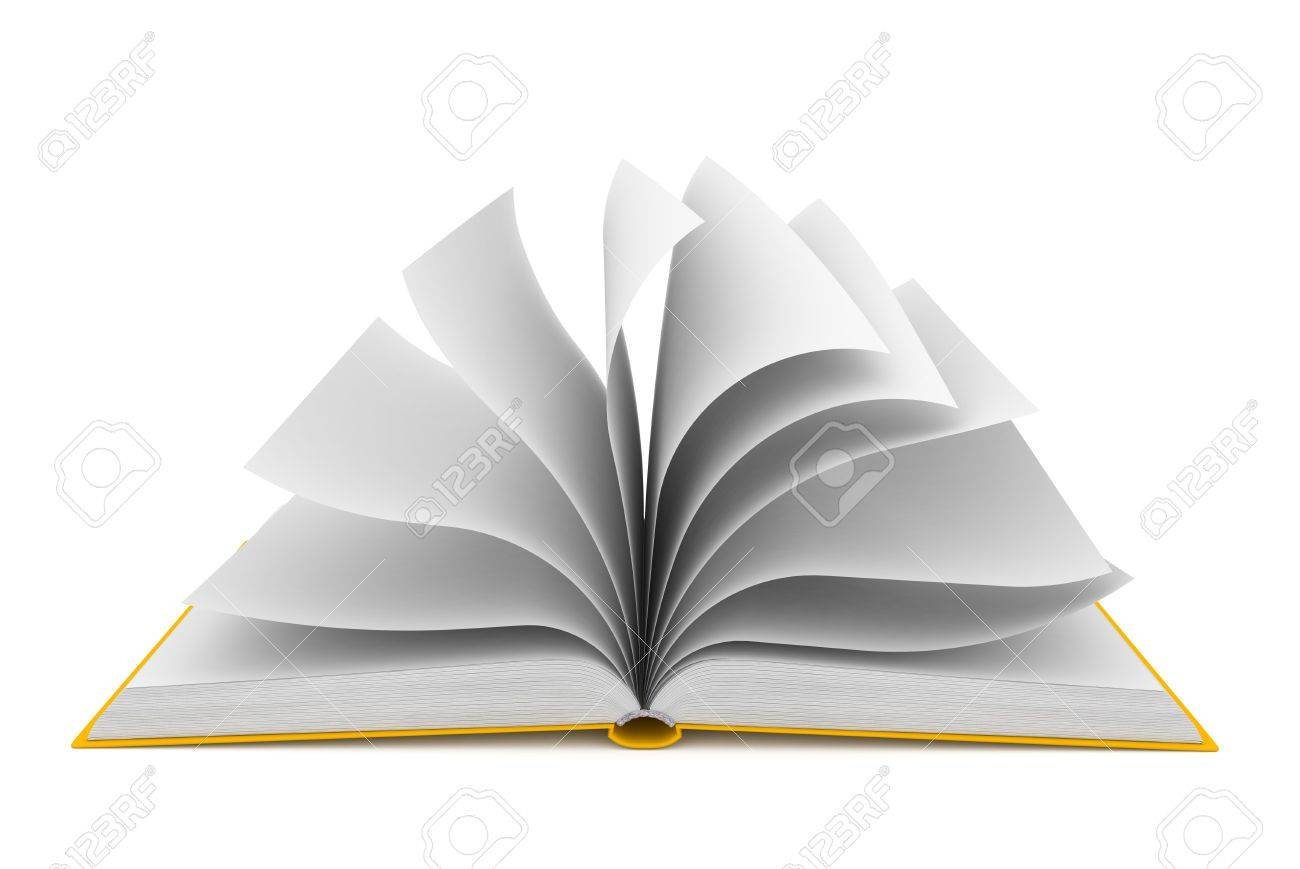 Open book over white background Stock Photo - 14039959