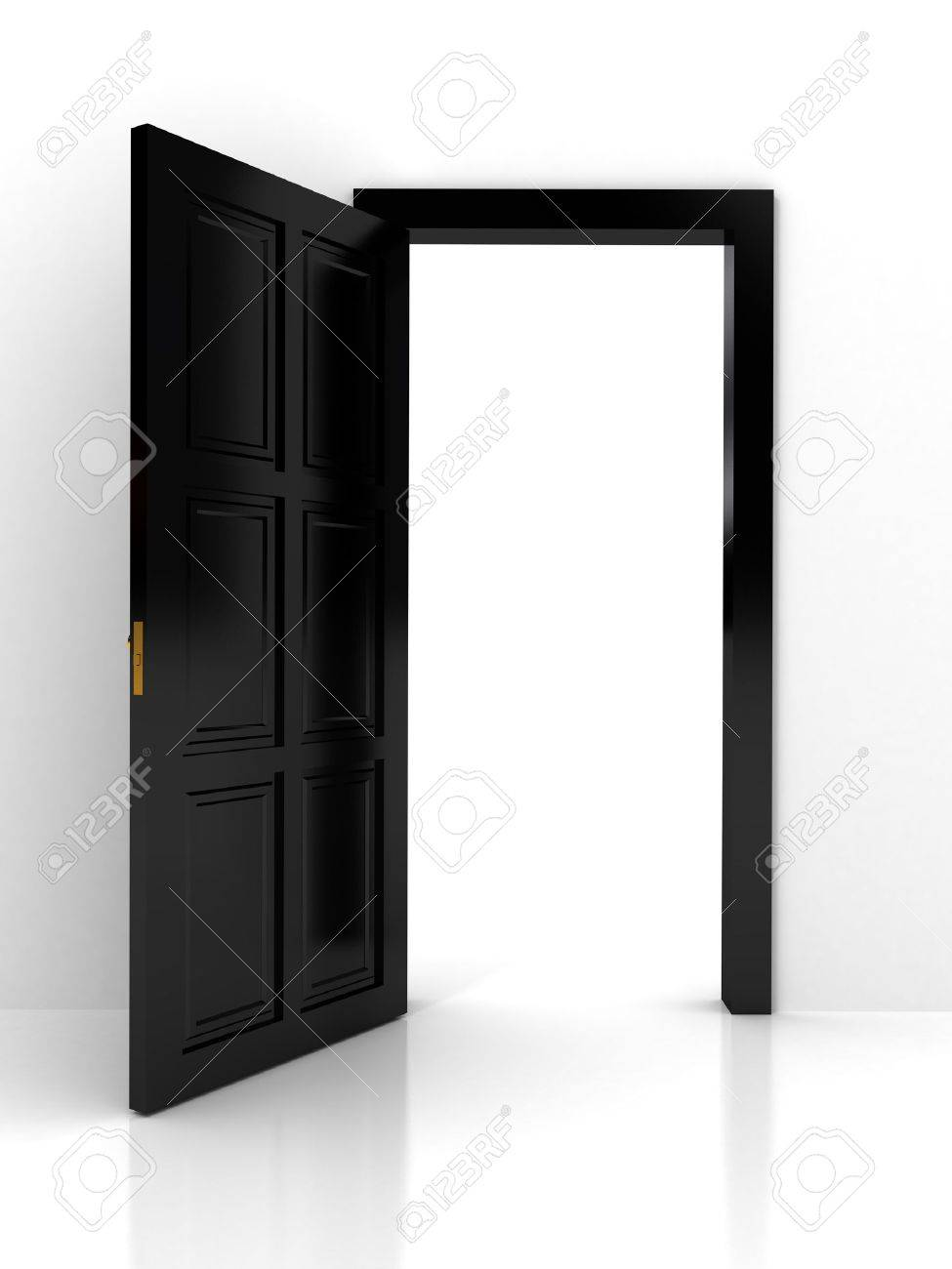 Black Door Frame Black Door Over White Background Stock Photo Picture And Royalty