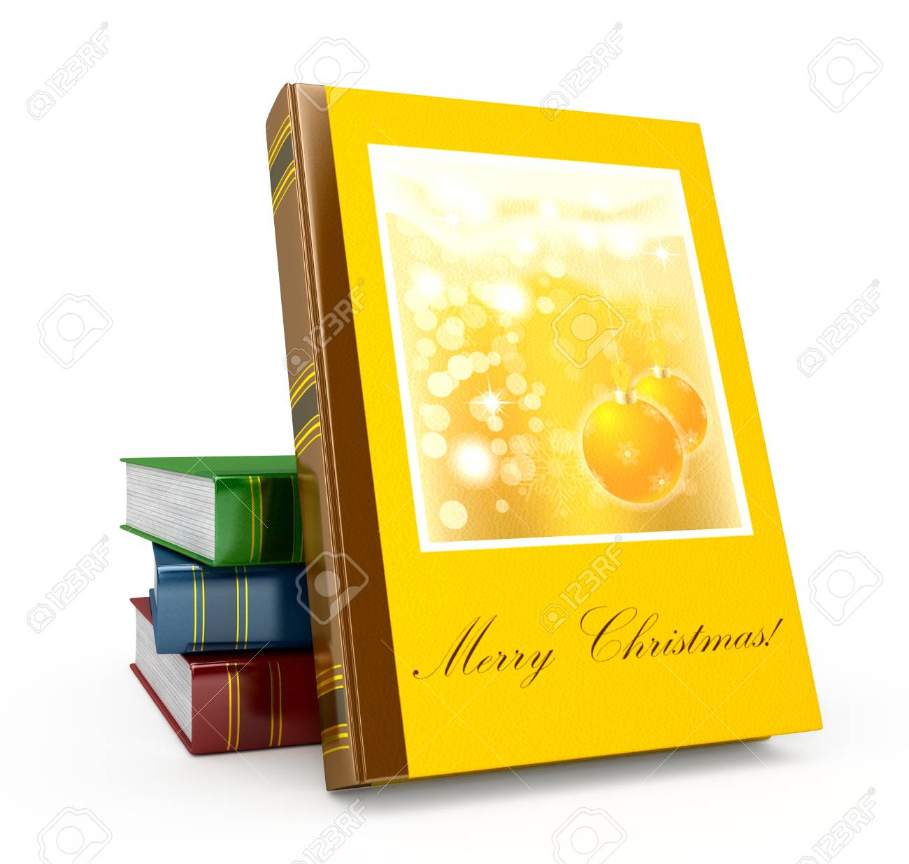 3d render christmas book on a white background Stock Photo - 14796036