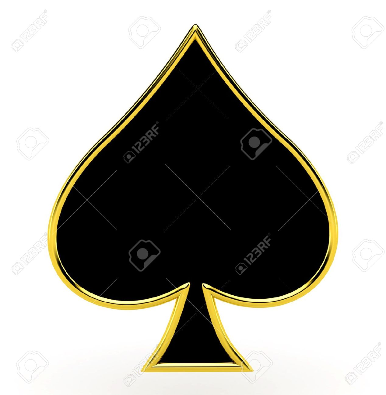 Spades card suits with golden framing stock photo picture and spades card suits with golden framing biocorpaavc Choice Image