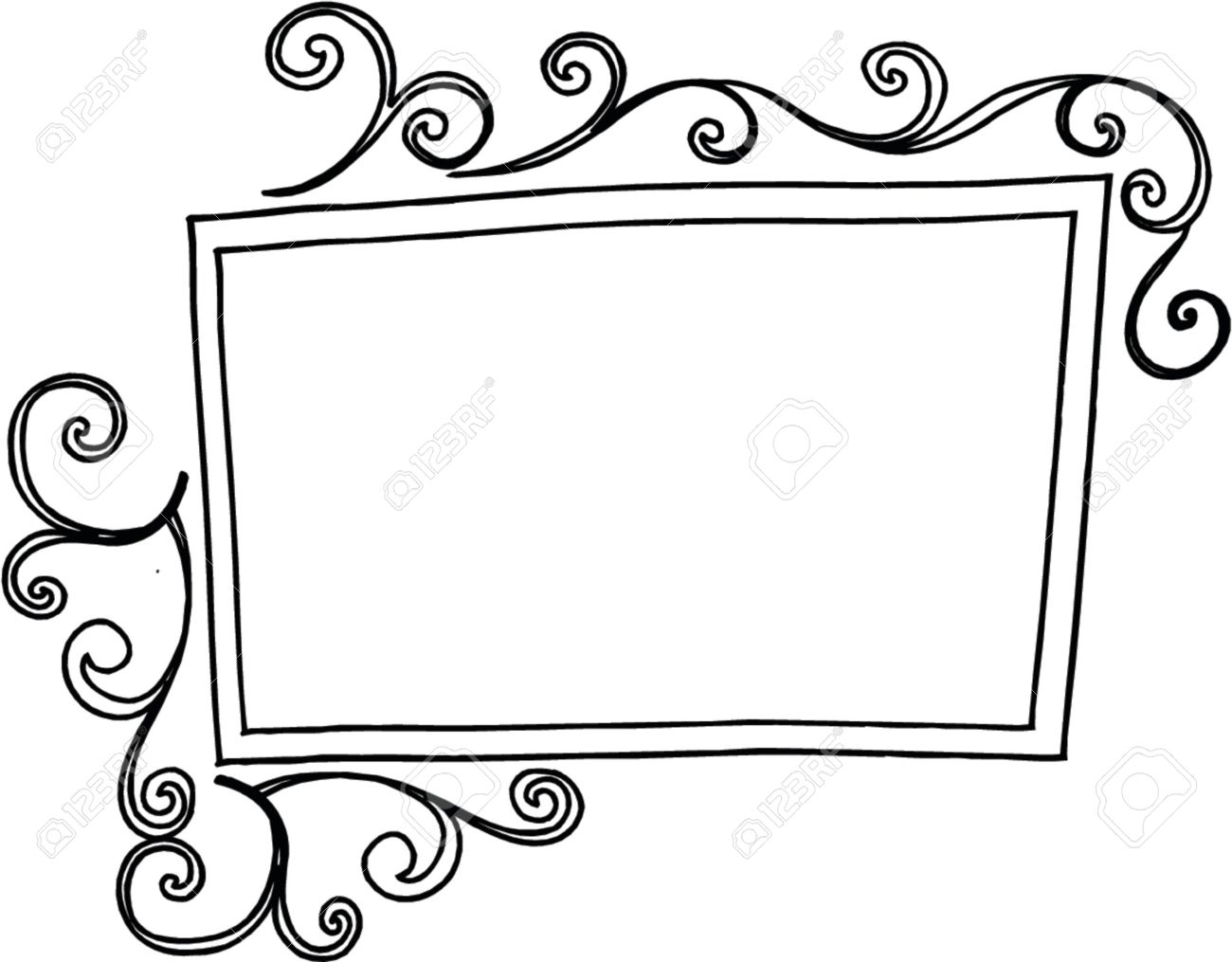 swirly frame vector illustration royalty free cliparts vectors and rh 123rf com picture frame vector art picture frame vector png