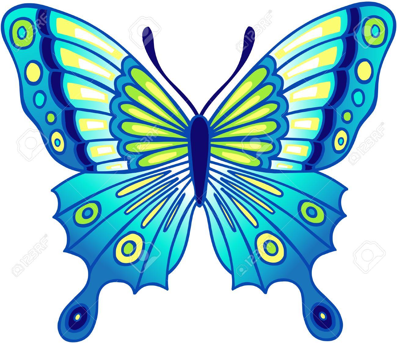 blue butterfly vector illustration royalty free cliparts vectors rh 123rf com Ice Cream Vector White Vector