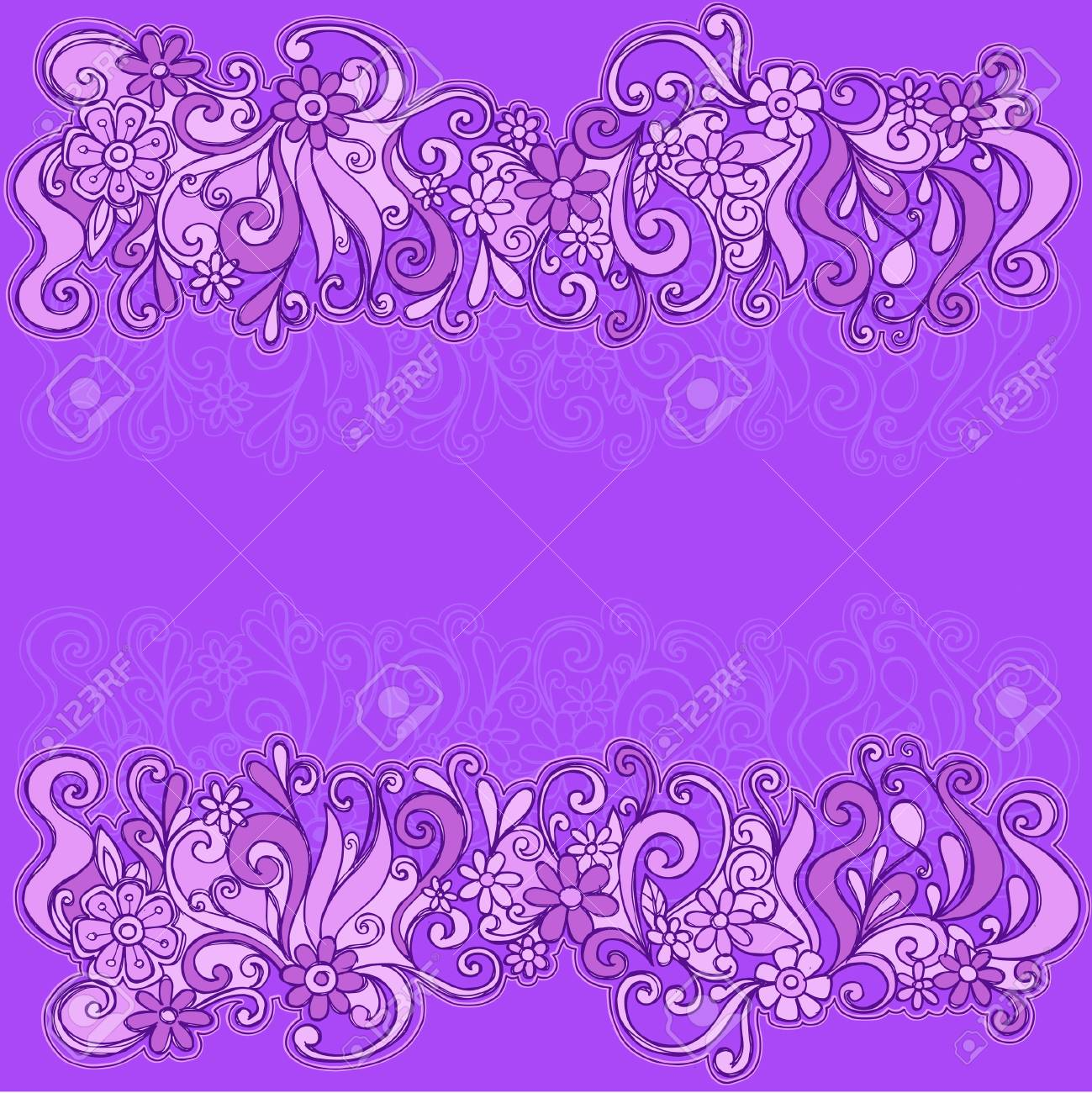 Sketchy Floral Border Vector Illustration Stock Vector - 3683060