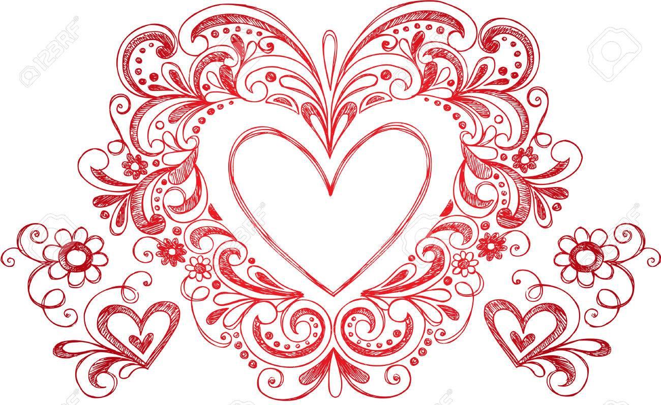 Heart Love Border Frame Stock Vector - 16693310