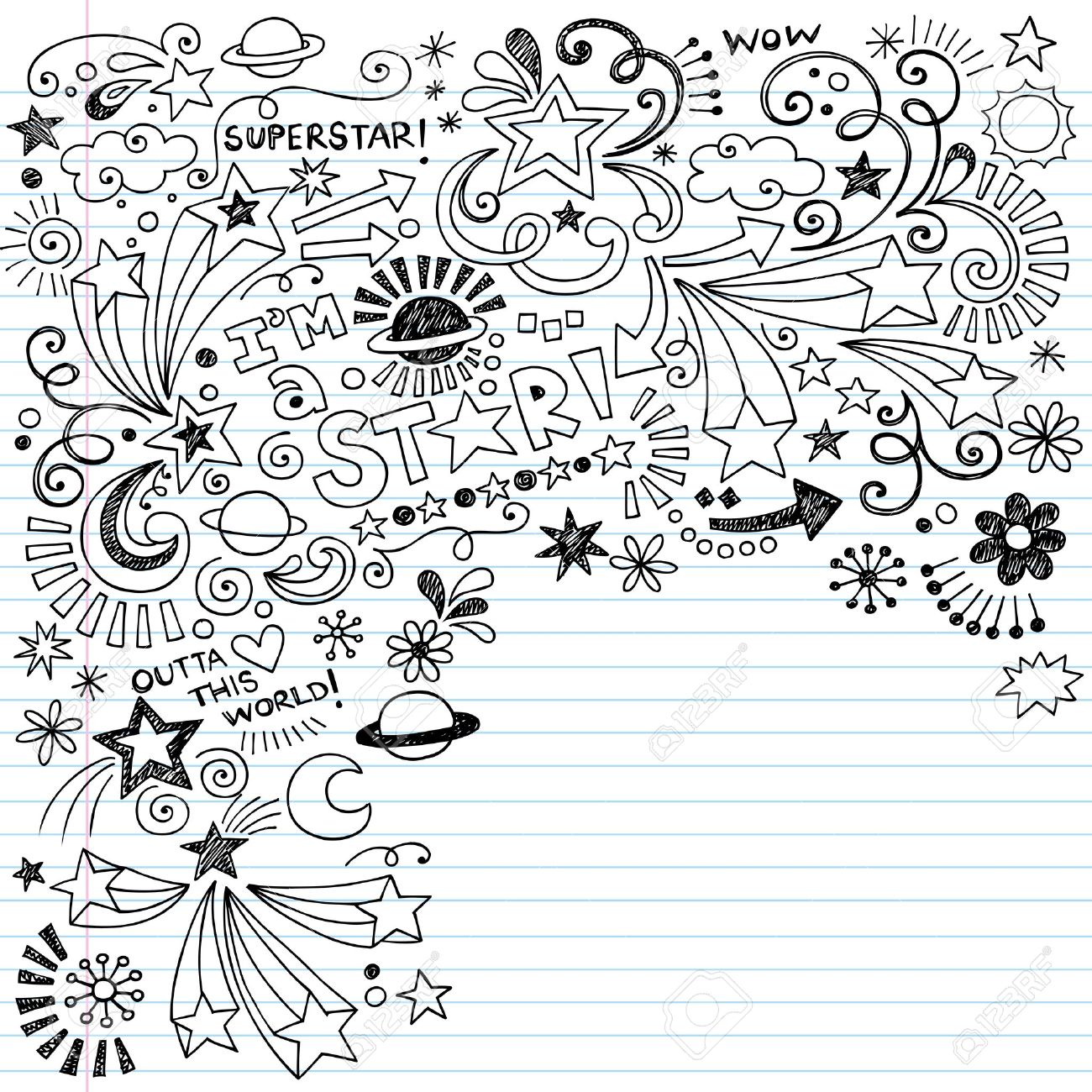 Doc452567 Lined Paper with Drawing Box Write and Draw Lined – Lined Paper with Drawing Box