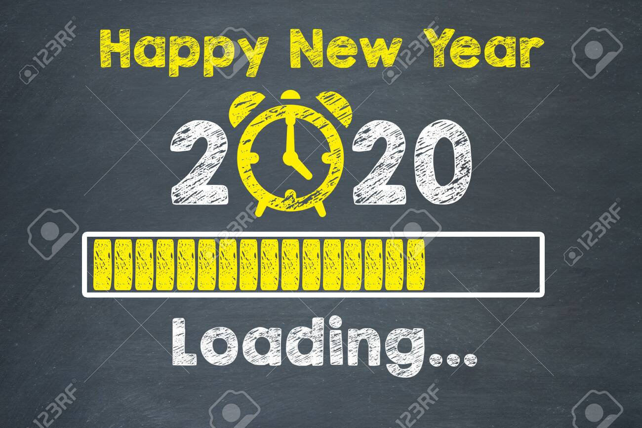 New year concepts 2020 countdown clock on blackboard - 136510416