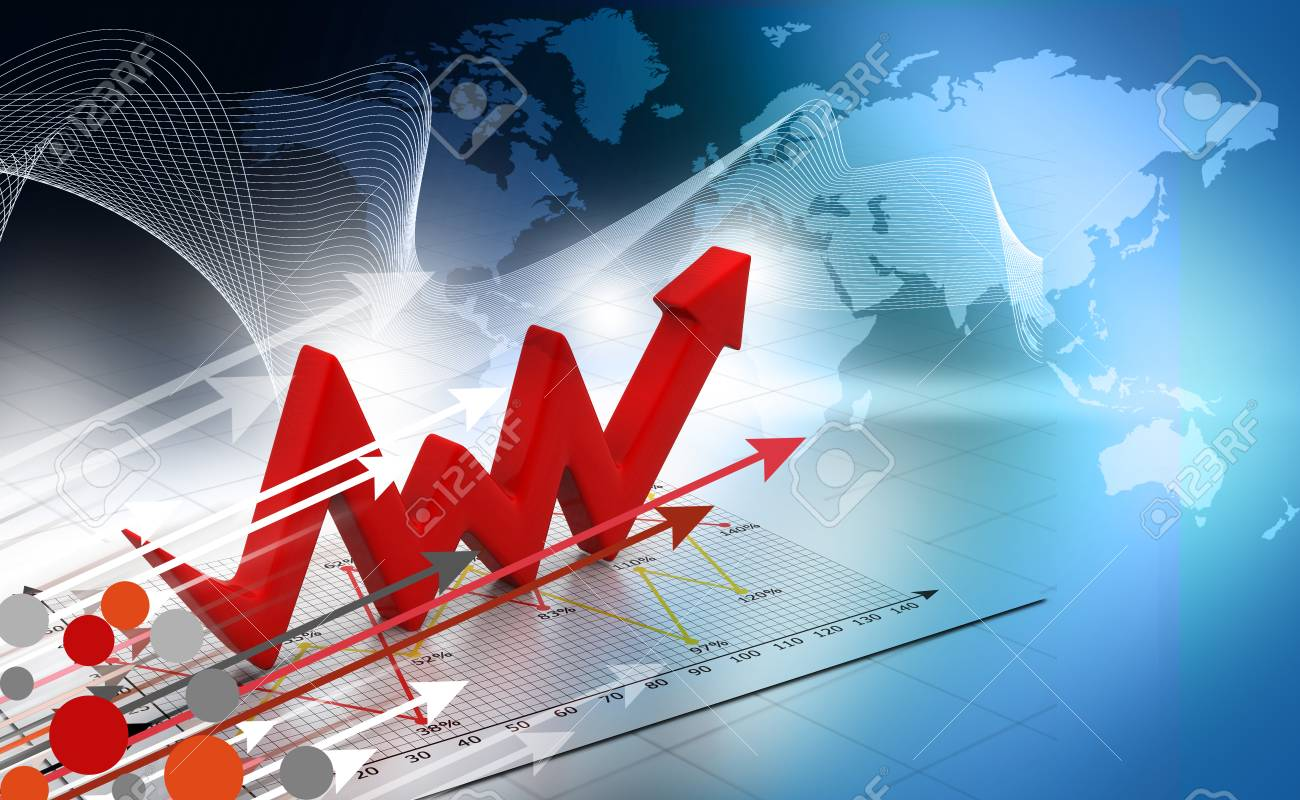business arrow graph background stock photo picture and royalty