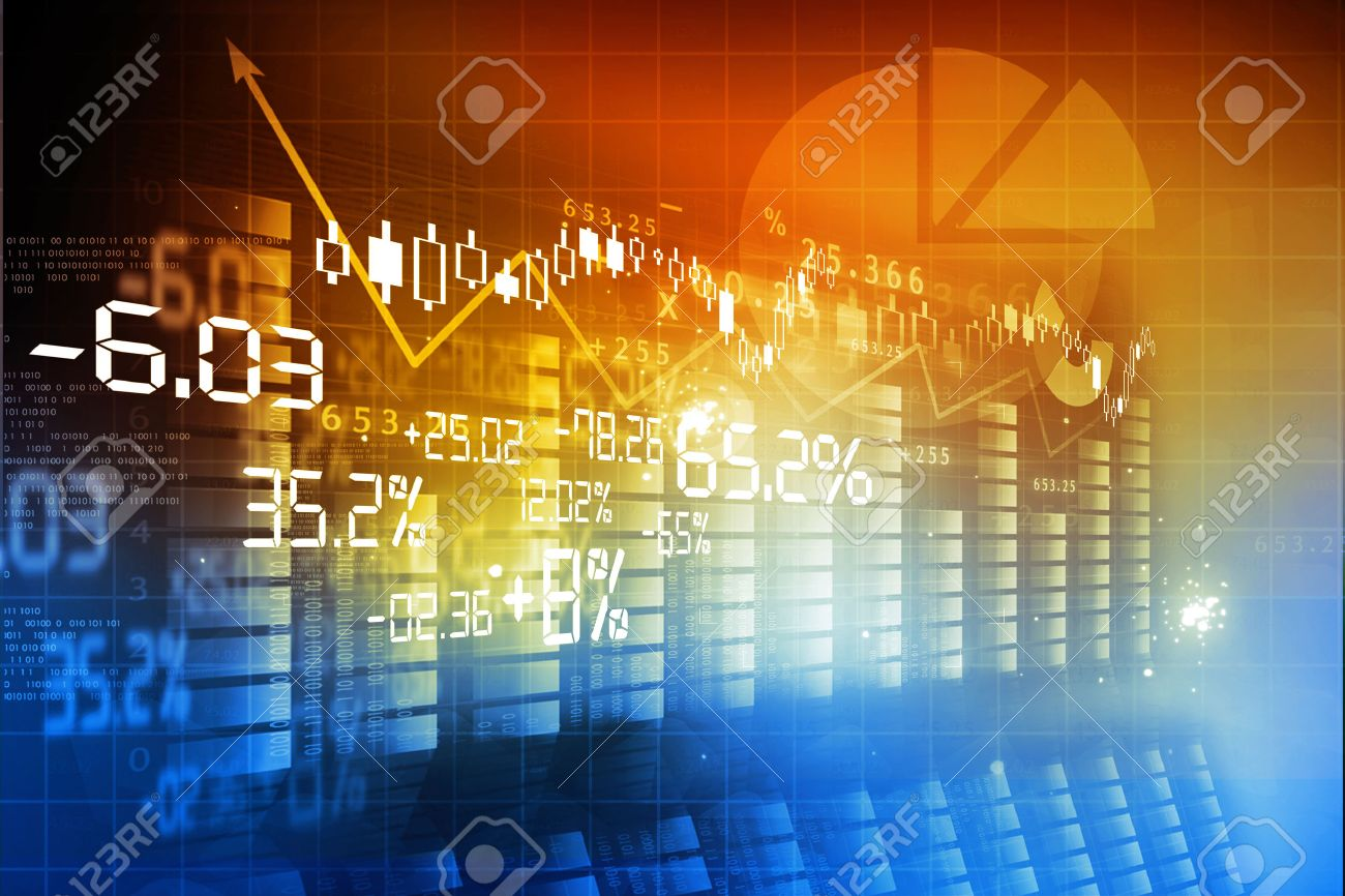 Financial background , stock market chart - 37297772