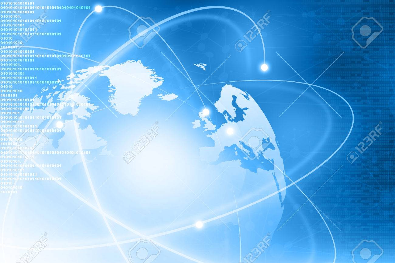 Futuristic background of Global business network, internet, Globalization concept - 38437060