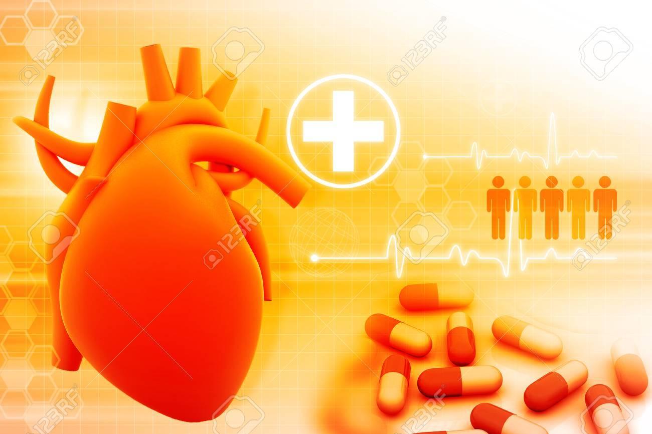 human heart and modem medicines Stock Photo - 47358887