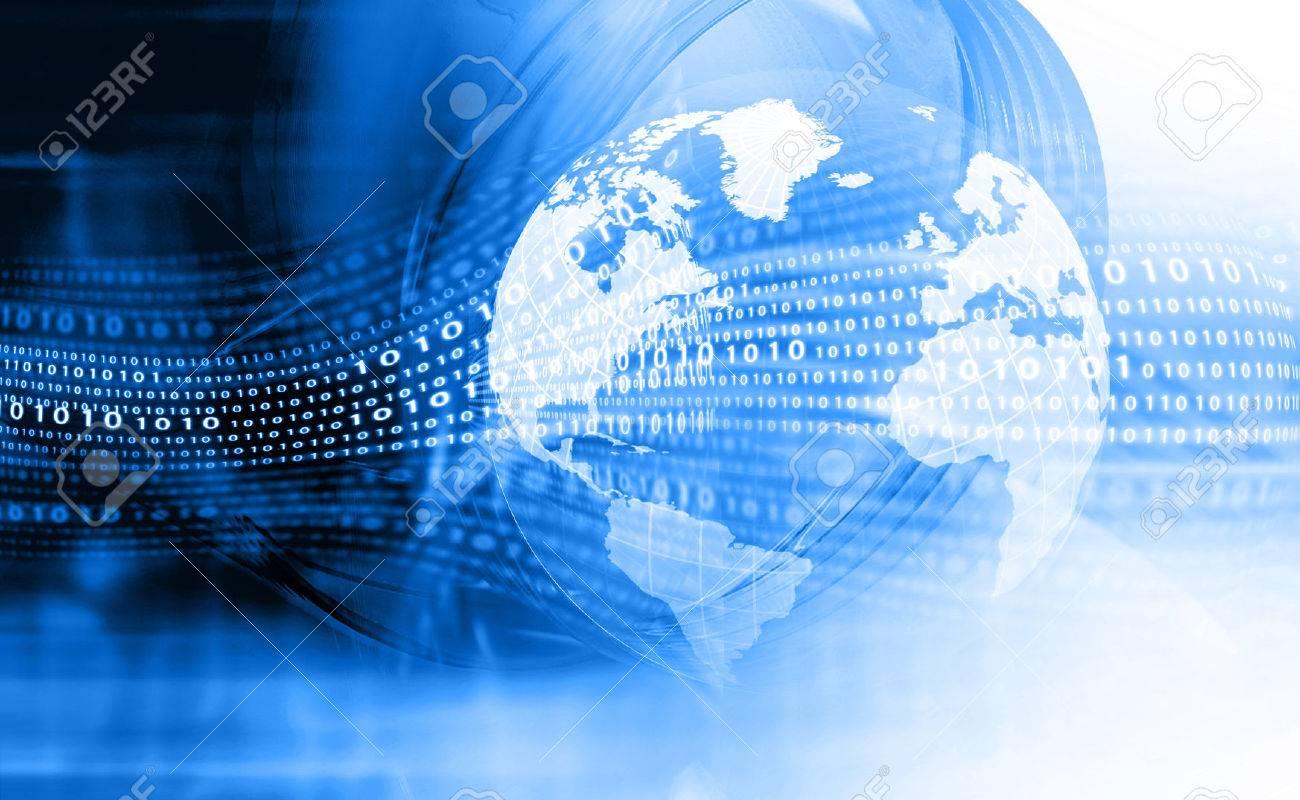 Digital earth. Hi-tech technological background - 57482322