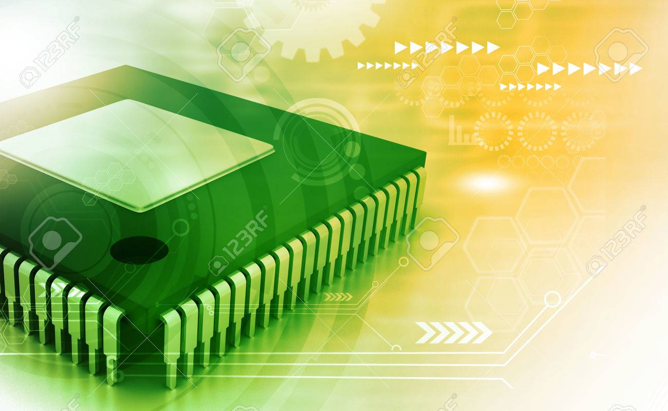 Integrated Circuit On Binary Background Ic Chip Stock Photo 57482324