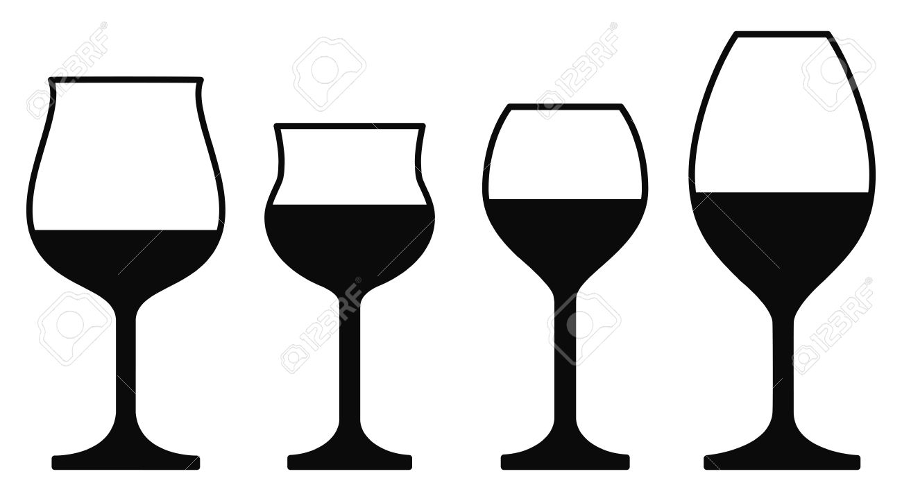 wine glasses isolated on a white background royalty free cliparts rh 123rf com free vector wine glass clip art Elegant Wine Glass Clip Art