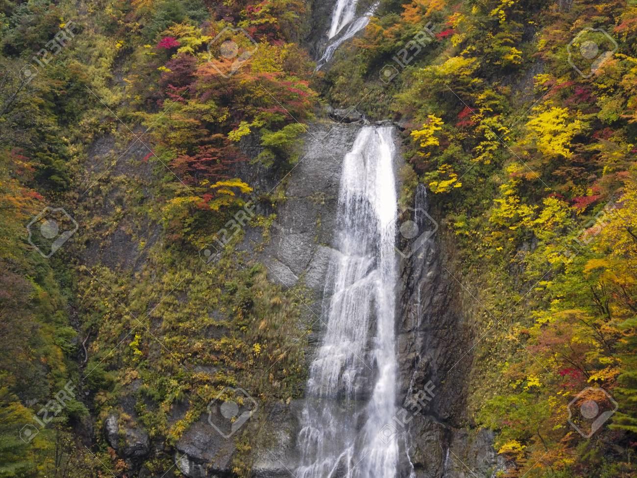 Siritaka waterfall at Hakusan Stock Photo - 16189593