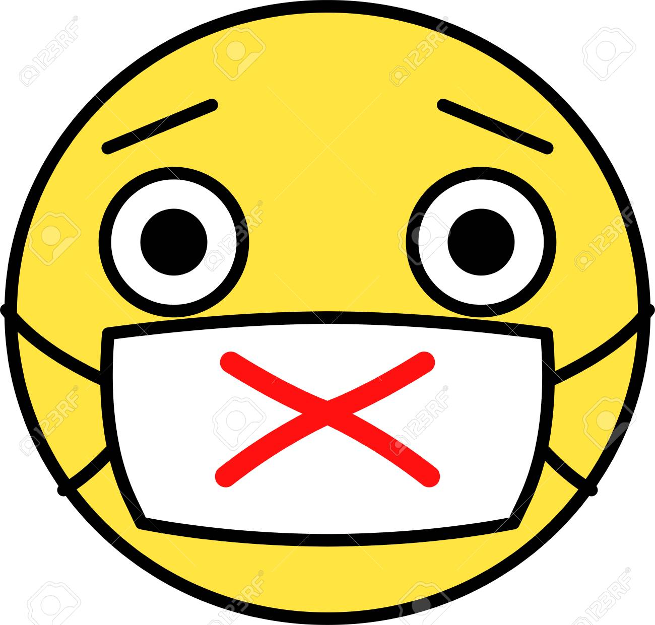 This is an illustration of pop face expression. - 116150279