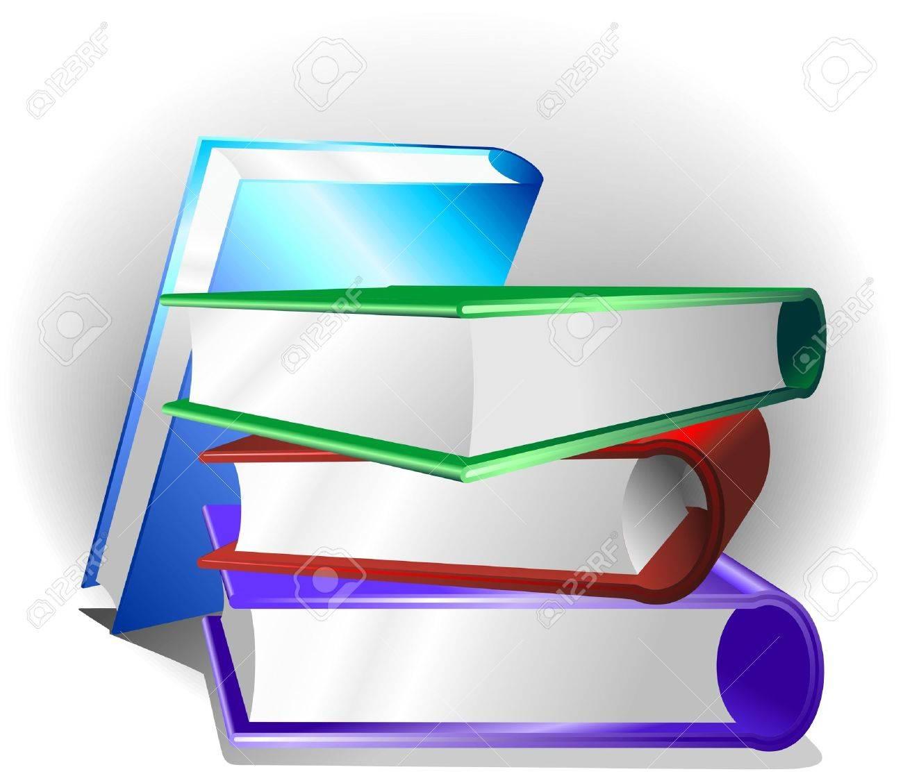 Books Background Stock Vector - 10509125