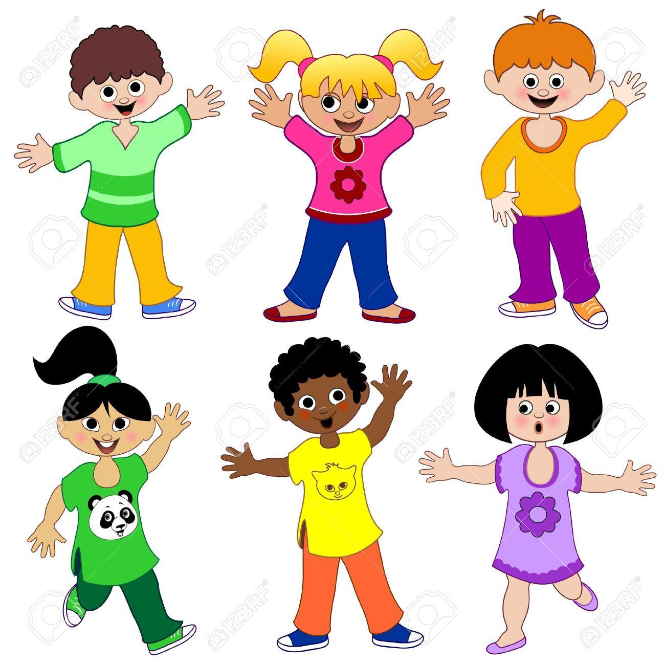 Children Kids From The World Stock Vector - 10509129