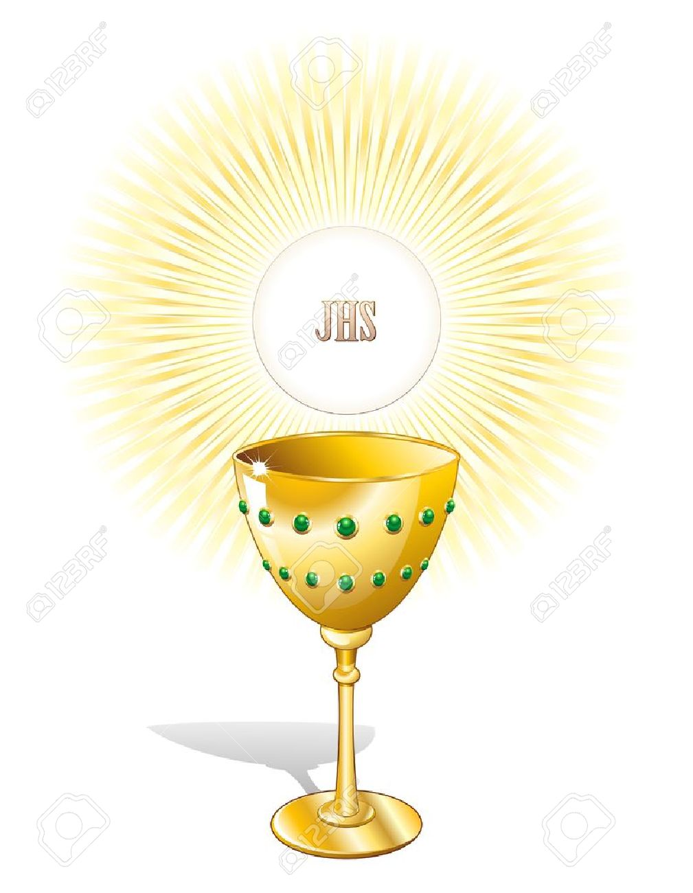 Religion Chalice Cup and Host - 10534750