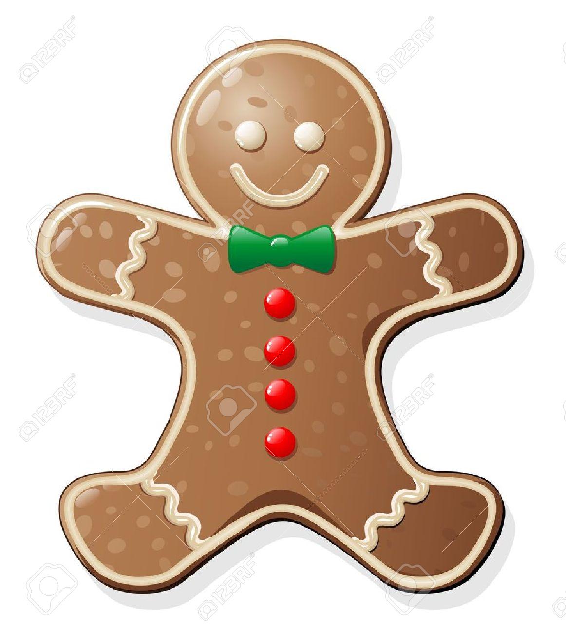 Gingerbread Man Cookie Stock Vector - 10884540