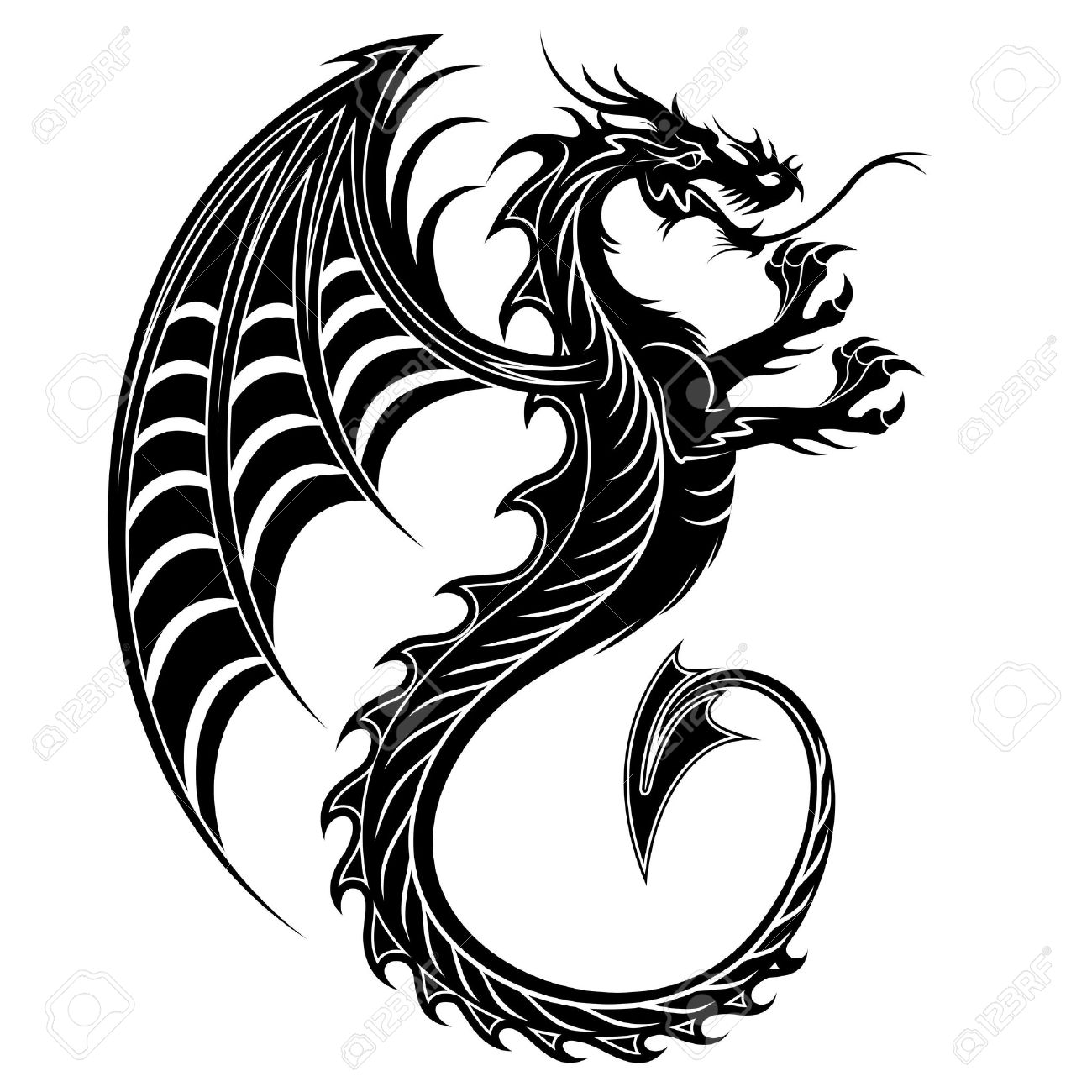 Dragon Tattoo Symbol 2012 Royalty Free Cliparts Vectors And Stock
