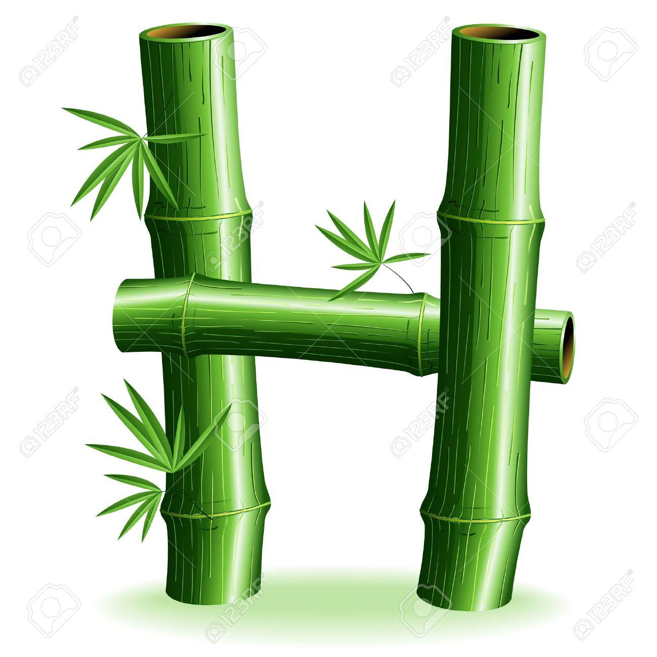 h Letter Logo Design Letter h Logo Bamboo Logo
