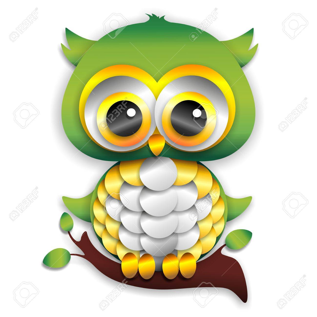 Baby owl paper craft royalty free cliparts vectors and stock baby owl paper craft stock vector 17613848 jeuxipadfo Image collections