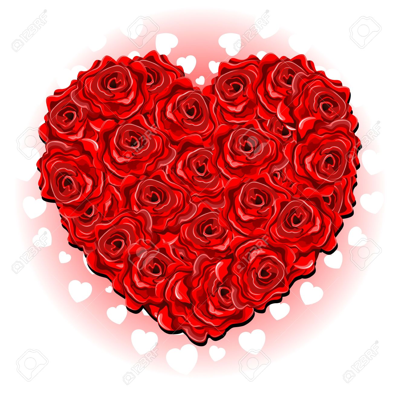 be my valentine red roses love heart bouquet royalty free cliparts