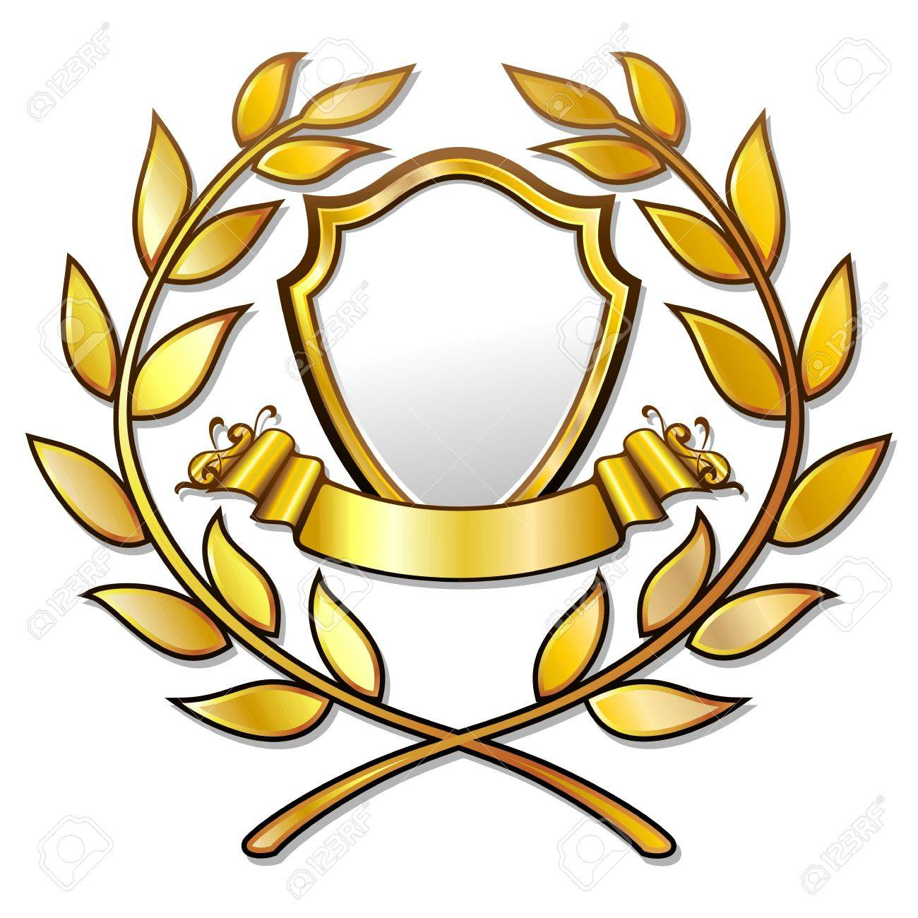 Golden Award Template with Laurels Stock Vector - 17717228