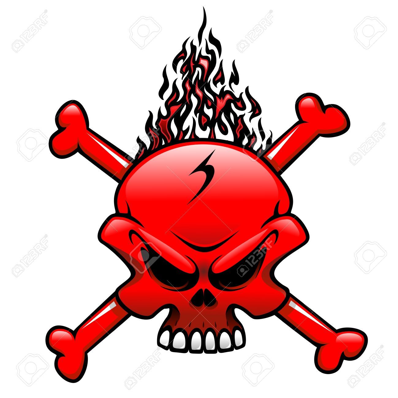 red fire skull clip art tattoo royalty free cliparts vectors and rh 123rf com fire alarm clipart images black and white fire images clip art
