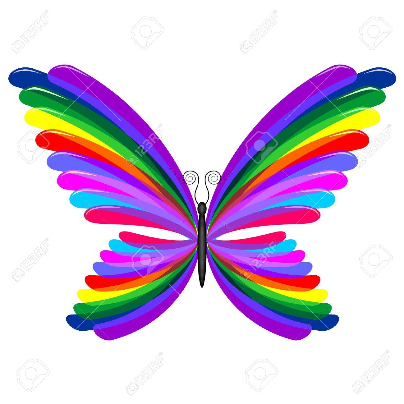 Butterfly Rainbow Abstract  Abstract Butterfly Logos