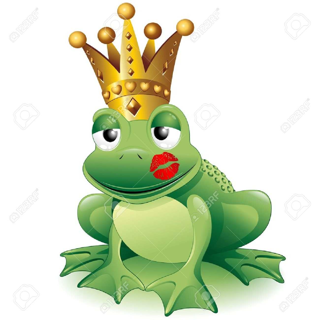 prince frog cartoon clip art with princess kiss royalty free rh 123rf com