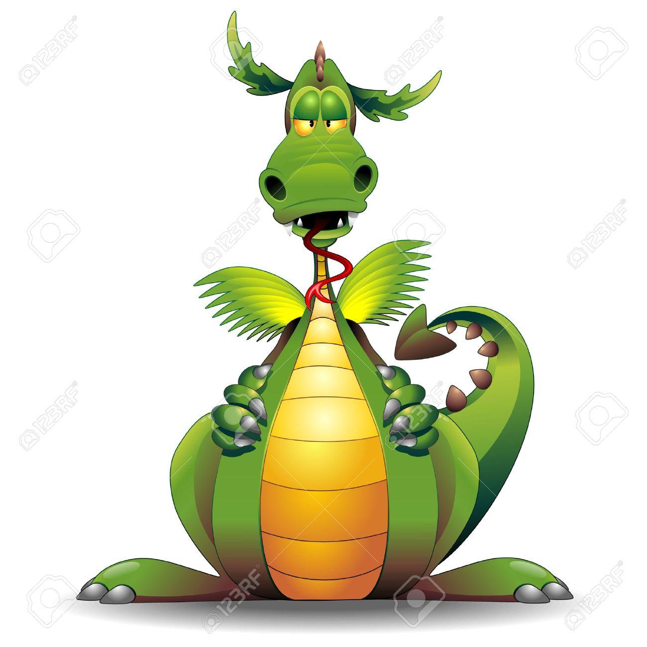 Dragon Funny Cartoon Character Stock Vector - 18546230