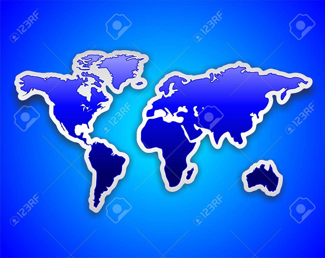 World map blue sticker on blue background royalty free cliparts vector world map blue sticker on blue background gumiabroncs Choice Image