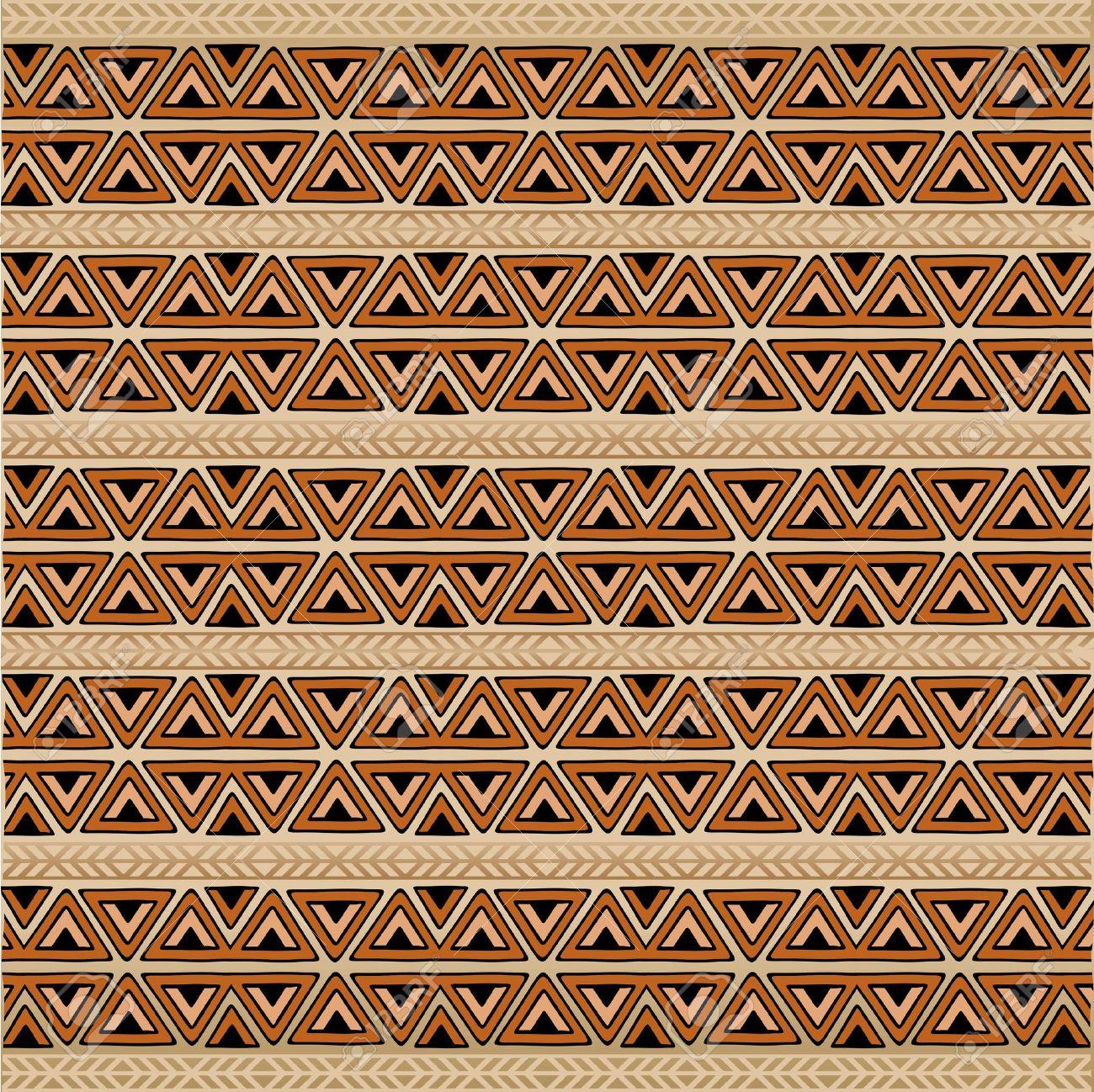 Africa Ethnic Art Pattern Texture Background Stock Vector - 19872109