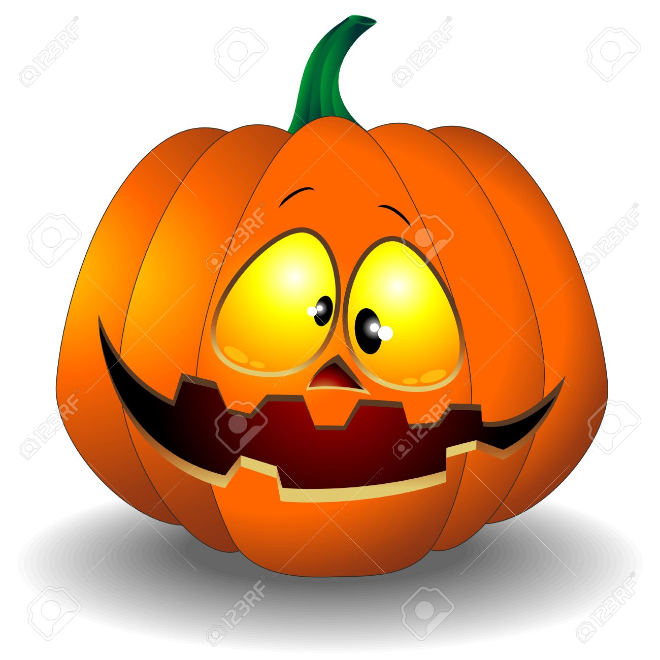 Funny Halloween Pumpkin Cartoon Royalty Free Cliparts, Vectors ...