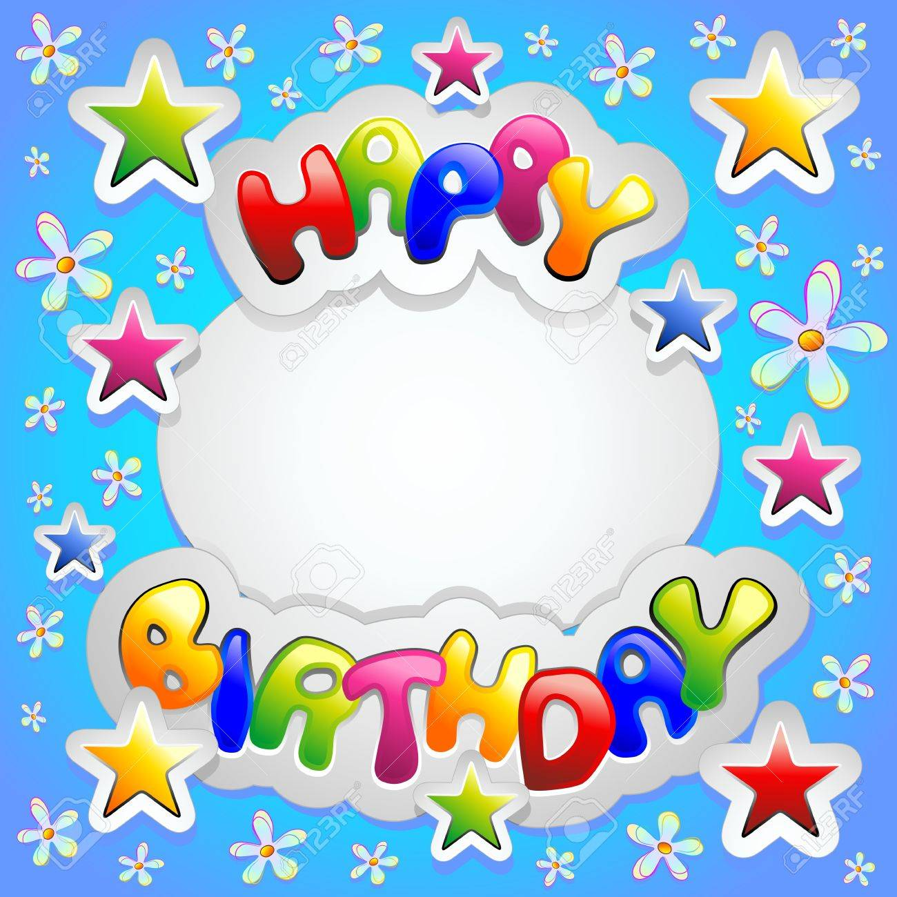Happy Birthday Celebration Stickers