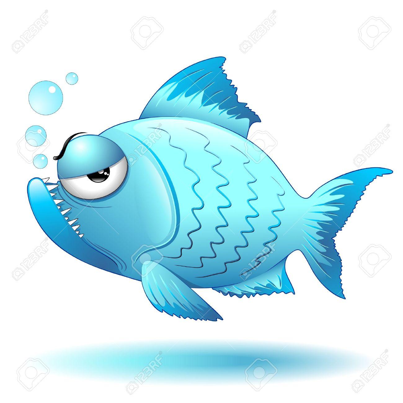 Grumpy Fish Cartoon Stock Vector - 21490508