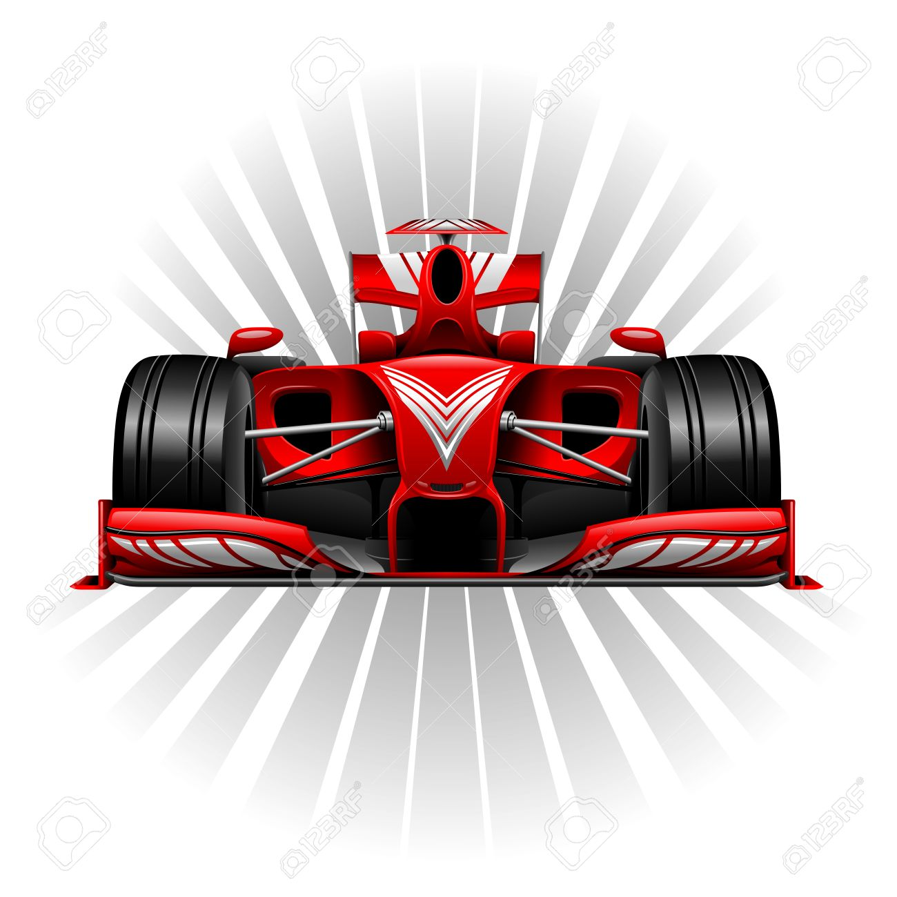 Formula 1 Red Racing Car Stock Vector - 30231084